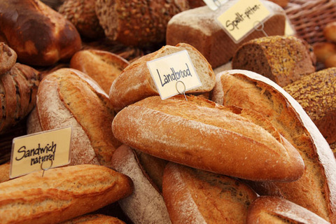 fresh bread on local market