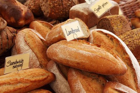 fresh bread on local market