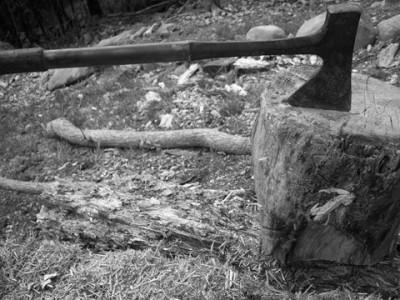 木こりの斧